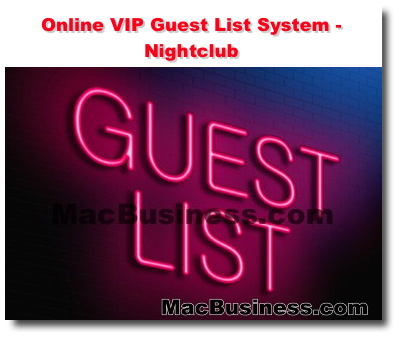 online vip guest list system nightclub interactive website